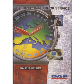 DAF Trucks Dealerlijst  Europa  Fabrikant 94 met gebruikssporen lichte vochtschade Engels Nederlands Frans Duits