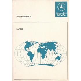 Mercedes-Benz Dealerlijst  Europa  Fabrikant 87 met gebruikssporen Engels Spaans Frans Duits