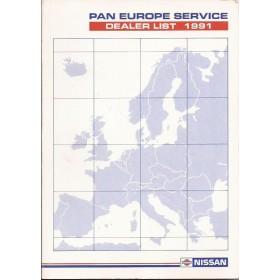 Nissan Dealerlijst  Europa  Fabrikant 91 met gebruikssporen Engels Spaans Frans Duits