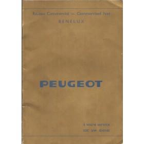 Peugeot Dealerlijst BeNeLux Fabrikant 73 met gebruikssporen Nederlands Frans
