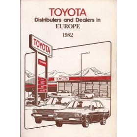 Toyota  Dealerlijst  Europa  Fabrikant 82 met gebruikssporen Engels