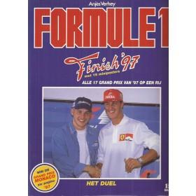 Formule 1 Finish 1997, jaarboek, 97, A. Verhey, met gebruikssporen, Nederlands