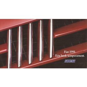 Fiat Alle Jaarboek Alle modellen Fiat 1991 met gebruikssporen Nederlands