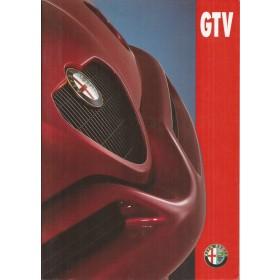 Alfa Romeo GTV brochure 24 pagina's 95 met gebruikssporen Nederlands