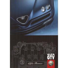 Alfa Romeo GTV brochure 36 pagina's 98 met gebruikssporen Nederlands