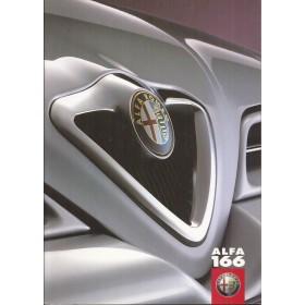 Alfa Romeo 166 brochure 54 pagina's 04 met gebruikssporen Nederlands