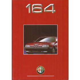 Alfa Romeo 164 brochure 22 pagina's 90 met gebruikssporen Nederlands