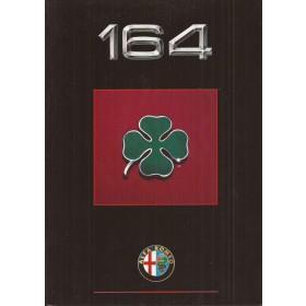 Alfa Romeo 164 Quadrifoglio brochure 28 pagina's 90 met gebruikssporen Nederlands