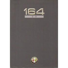Alfa Romeo 164 2.0 brochure 4 pagina's 91 met gebruikssporen Nederlands