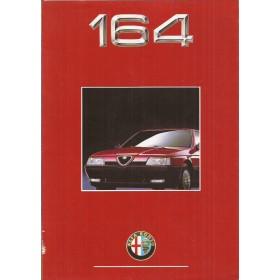 Alfa Romeo 164 brochure 8 pagina's 90 met gebruikssporen Nederlands