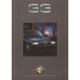 Alfa Romeo 33 brochure 20 pagina's 1990 met gebruikssporen Nederlands