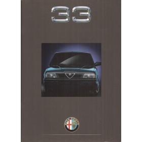 Alfa Romeo 33 brochure 32 pagina's 1991 met gebruikssporen Nederlands