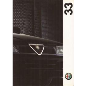 Alfa Romeo 33 brochure 44 pagina's 1992 met gebruikssporen Nederlands