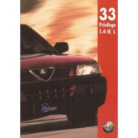 Alfa Romeo 33 Privilege brochure 4 pagina's 1993 met gebruikssporen Nederlands