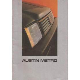 Austin Metro MG Metro brochure 28 pagina's 1983 met gebruikssporen Nederlands