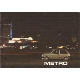 Austin Metro MG Metro brochure 16 pagina's 1982 met gebruikssporen Nederlands
