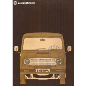 Leyland Sherpa brochure 22 pagina's 1975 met gebruikssporen Nederlands