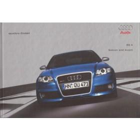 Audi RS4 (type B7) brochure 52 pagina's Benzine Fabrikant 2006 met gebruikssporen Engels
