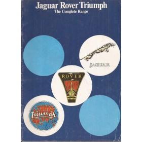 Jaguar Rover Triumph British Leyland brochure 32 pagina's 77 met gebruikssporen Engels