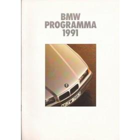 BMW Alle Jaarboek Alle modellen BMW 1991 met gebruikssporen Nederlands