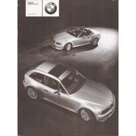 BMW Z3 prijslijst 8 pagina's 01 met gebruikssporen Nederlands