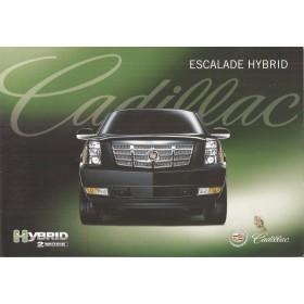 Cadillac Escalade Hybrid brochure 4 pagina's 09 met gebruikssporen Engels