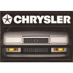Chrysler ES GTS LeBaron Voyager brochure 28 pagina's ca 1990 met gebruikssporen Nederlands