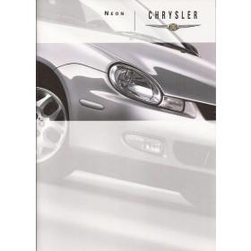 Chrysler Neon brochure 30 pagina's 1999 met gebruikssporen Nederlands