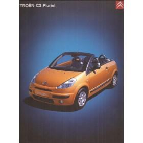 Citroen C3 Pluriel brochure 32 pagina's 2003 met gebruikssporen Nederlands