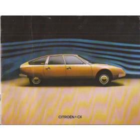 Citroen CX 28 pagina's 1974 met gebruikssporen Nederlands
