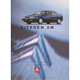 Citroen XM brochure 20 pagina's 1996 met gebruikssporen Frans