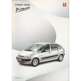 Citroen Xsara Picasso brochure 48 pagina's 2000 met gebruikssporen Nederlands