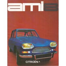 Citroen Ami 8 brochure 6 pagina's 1969 met gebruikssporen Nederlands