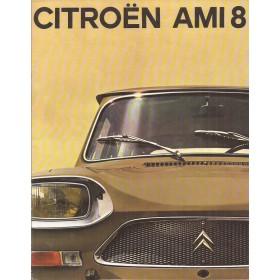Citroen Ami 8 brochure 6 pagina's 1970 met gebruikssporen Nederlands