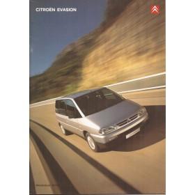 Citroen Evasion brochure 32 pagina's 2000 met gebruikssporen Nederlands