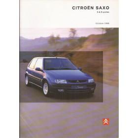 Citroen Saxo brochure 42 pagina's 1998 met gebruikssporen Frans