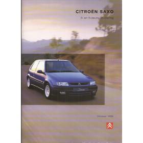 Citroen Saxo brochure 42 pagina's 1998 met gebruikssporen Nederlands