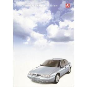 Citroen Xantia Millesime brochure 4 pagina's 2000 met gebruikssporen Nederlands