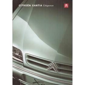 Citroen Xantia Elegance brochure 4 pagina's 2000 met gebruikssporen Nederlands