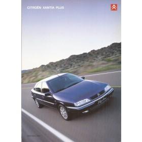 Citroen Xantia Plus brochure 8 pagina's 2001 met gebruikssporen Nederlands