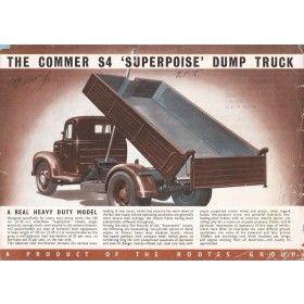 Commer S4 Superpoise brochure 6 pagina's losbladig 1949 met gebruikssporen Engels