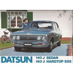 Datsun 140J 160J brochure 12 pagina's 1971 met gebruikssporen Nederlands