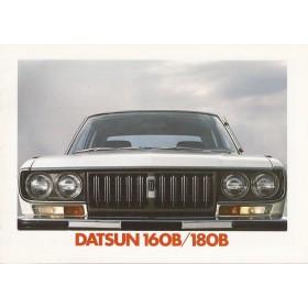 Datsun 160B 180B brochure 16 pagina's 1974 met gebruikssporen Nederlands