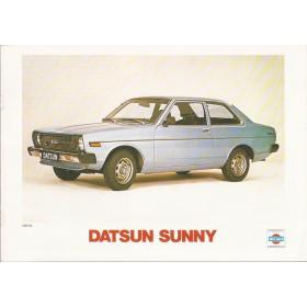 Datsun Sunny brochure 12 pagina's 1979 met gebruikssporen Nederlands