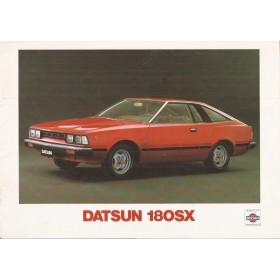 Datsun 180SX Silvia brochure 16 pagina's 1979 met gebruikssporen Nederlands