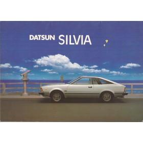 Datsun 180SX Silvia brochure 12 pagina's 1980 met gebruikssporen Nederlands
