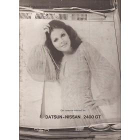 Datsun Nissan 2400 GT Skyline brochure 8 pagina's ca 1972 met gebruikssporen Nederlands