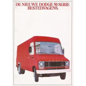 Dodge 50-serie brochure 4 pagina's 1980 met gebruikssporen Nederlands