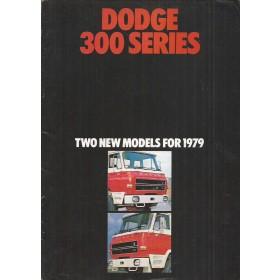 Dodge 300-serie brochure 12 pagina's 1979 met gebruikssporen Engels