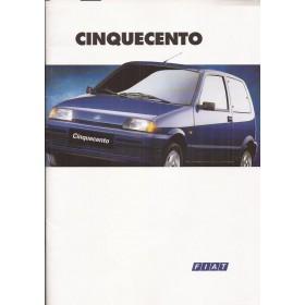 Fiat Cinquecento brochure 28 pagina's 1995 met gebruikssporen Nederlands